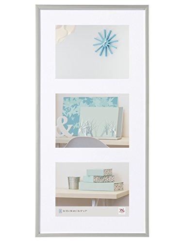 walther design KV338S New Lifestyle Galerie Bilderrahmen, 3 x 13 x 18 cm, silber Silber 13