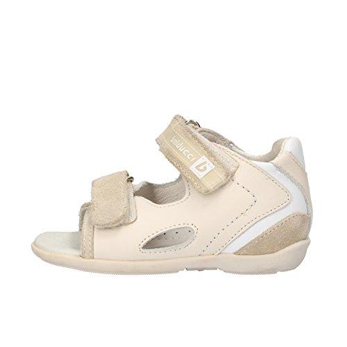 BALDUCCI sandali bambino beige pelle bianco camoscio AF353 (19 EU)
