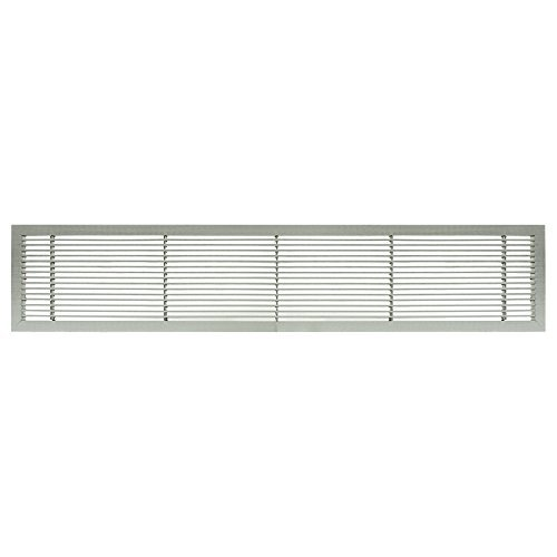 Architectural Grille 100041201 AG10 Series 4 x 12 Solid Aluminum Fixed Bar Supply/Return Air Vent Grille, Brushed Satin by Architectural Grille -