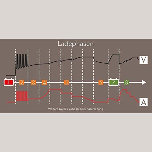 AEG Automotive 97016 Mikroprozessor-Ladegerät LM 4.0 Ampere für 6 und 12 V Batterien, 8-stufig