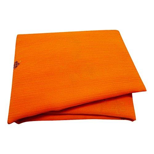 PEEGLI Indisch Frauen Sarong Wickeln Orange Jahrgang Saree Georgette Chiffon DIY Stoff Bestickt Designer Kleid Traditionell Tragen Ethnisch Sari Designer-chiffon Sarees