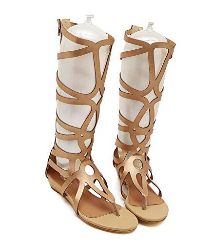 Zoom IMG-3 lvrao donna sandali gladiatore zeppe