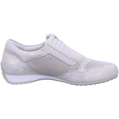 Gabor Confort Femme 46.352pour femme à lacets plats, Baskets, Sneakers Argent - Argent
