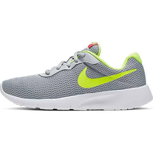 Nike Jungen Tanjun (GS) Leichtathletikschuhe, Mehrfarbig (Wolf Grey/Volt/Rush Pink 000), 37 EU