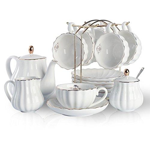Sweejar Home à thé en porcelaine Ensemble de famille...