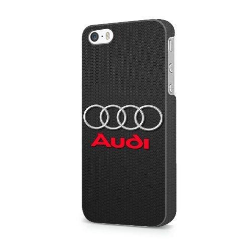 NEW* AS ROMA Tema iPhone 5/5s/SE Cover - Confezione Commerciale - iPhone 5/5s/SE Duro Telefono di plastica Case Cover [JFGLOHA006361] AUDI LOGO#00