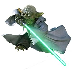Stickers autocollants Yoda Stars Wars 27x30 cm