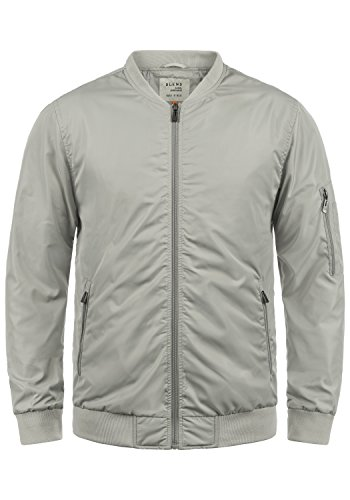 Blend Craz Herren Bomberjacke Übergangsjacke Jacke Mit Stehkragen, Größe:M, Farbe:Stone Grey (75117)