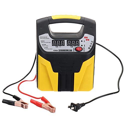 kaikki Caricabatteria per Auto Display LCD Identificazione Automatica della Tensione a 12 V / 24 V Protezione Contro la Luce Diurna 35AH-200AH