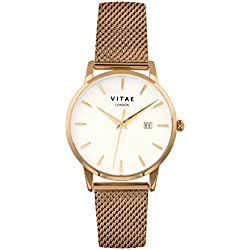Gold Walmer 34mm Watch by Vitae London