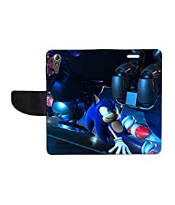 KolorEdge Printed Flip Cover For Lenovo A6000 - Multicolor(50KeMLogo8214LenovoA6000)