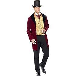 Smiffy's Disfraz de hombre eduardiano con chaqueta Mock, chaleco y pañuelo (43419M)