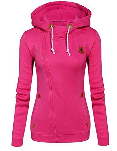 Brinny Femme Pull à capuche sweatshirt veste loisir Sweat à capuches slim fit Rose