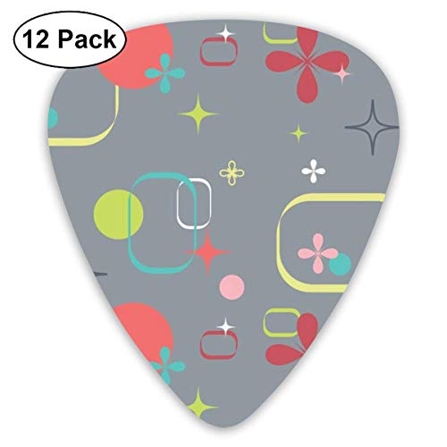 lluloid Picks, 12-Pack, For Electric Guitar, Acoustic Guitar, Mandolin, And Bass ()