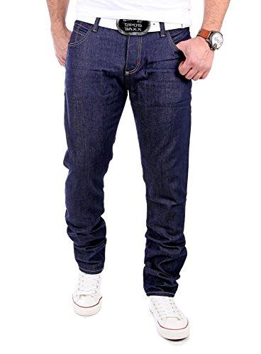 Cipo & Baxx Herren Jeans Regular Slim Leg Jeanshose CD-203 Dunkelblau Blau