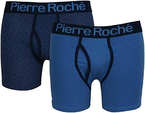 2-er-Pack Unterhosen mit Eingriff von Pierre Roche. Blau - Blau
