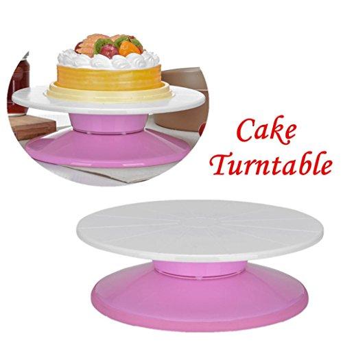 Upxiang Drehbarer Kuchen Stand, 29cm Drehbarer Kuchen Abnehmbarer, Abnehmbarer Dekorativer Kuchen Drehscheibe, DIY Revolving Cake Stand Revolving Cake Stand