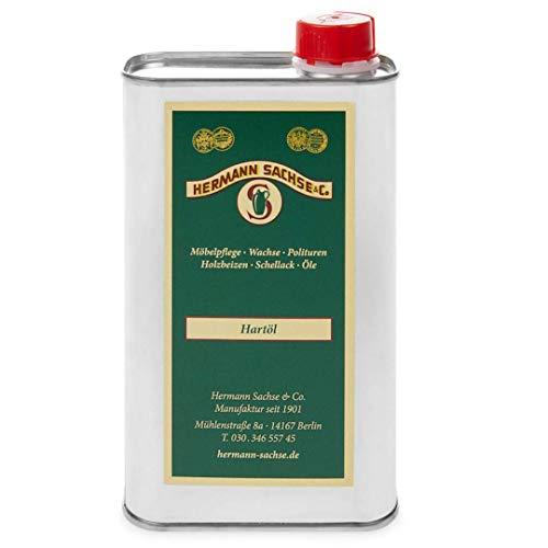 Hermann Sachse Holzöl Hartöl farblos für innen 500ml wirkungsvolles Natur Möbelpflegeöl für Tisch Türen Möbel aus Holz natürliche Holzpflege Eichenmöbel Wildeiche Kernbuche lösemittelfrei