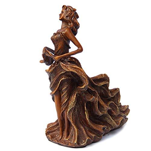 IF.HLMF Französischer Stil Tabletop Weinregal kleine Weinregale, Wohnzimmer Couchtisch Bar Dekor, Premium-Harz, Beauty Statue, H 12 Zoll Flaschen -