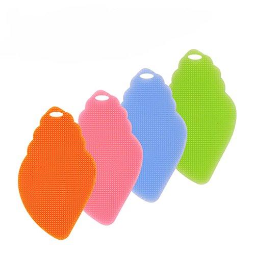 Prevently 4-Farben-Blatt-Silikon-Waschschüssel-Pinsel-Set Heißes Mehrzweckantibakterielles...