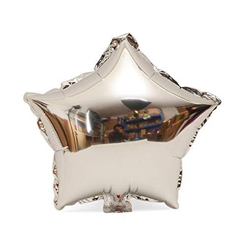 18 pulgadas de papel en forma de estrella globo helio metalizado cumpleaños verano fiesta al aire libre decoración de la boda aire Mylar globo