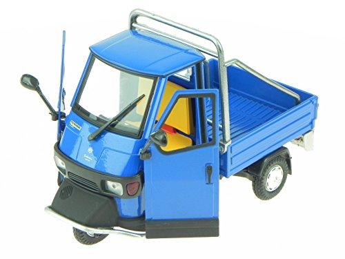 Preisvergleich Produktbild Piaggio Ape Cross 50 blau Metall Modell 68035 NewRay 1:18