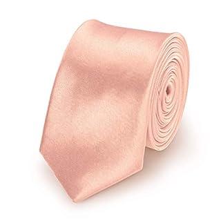 StickandShine Krawatte Zartrosa slim aus Polyester einfarbig uni schmale 5 cm