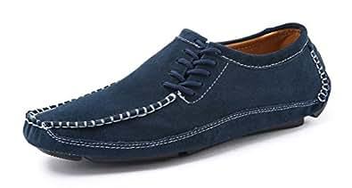 Easemax Herren Modisch Flach Hollow Out Slip on Geschlossen Pantoffeln Blau 44 EU EQCLg19gA