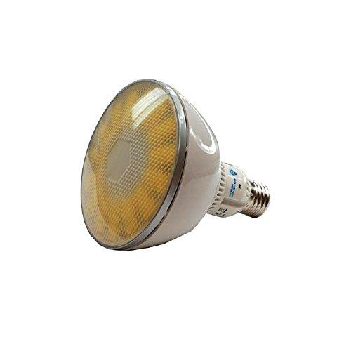 Lampe Birne 73488 | 18W | CRI ≥ 80 RA | Warm-weiß 2800°K | 1100 Lumen | dimmbar | 90° < Winkel | statt 75W - 100W Leuchtmittel PAR 38 Reflektor Strahler 120mm ⌀ | E27 Fassung | ()