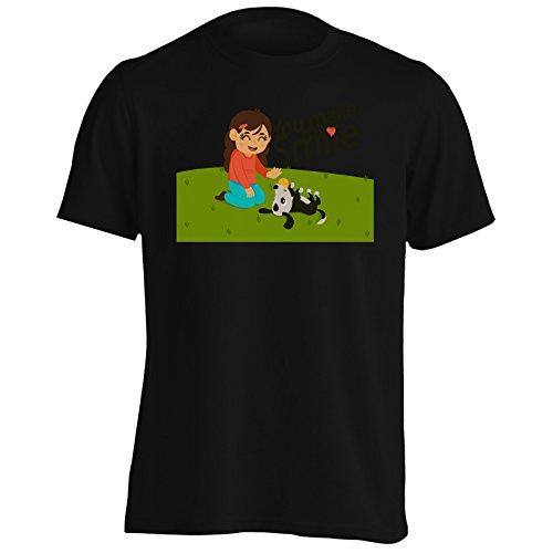 Nuovo Mi Fai Sorridere Sfondo Uomo T-shirt i134m Black