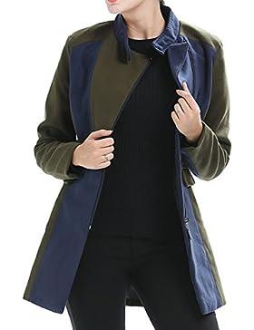 Scothen Mujeres Abrigo de invierno Chaqueta acolchada Chaqueta con capucha Transit Jacket Gabardina con doble...