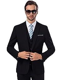Homme Trois Pièce Costume Un Boutons Mode Slim fit Smoking Business Mariage d3f9ba8f7adb