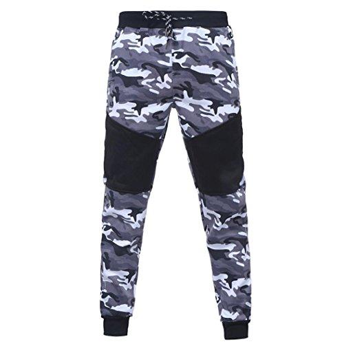 Sunnywill Herren Herbst Winter Camouflage Sweatshirt Top Hosen Sets Sport suit Anzug (Black—Hose, XL) (Tee Zip Sleeve)