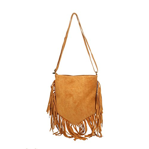 Chicca Borse Borsa a tracolla in pelle 21x24x2 100% Genuine Leather Cuoio