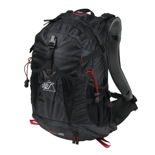 10T Kiowa 25 Sac à dos outdoor et trekking Noir/Rouge 49 x 33 x 18 cm