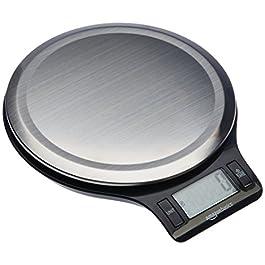 AmazonBasics – Bilancia digitale da cucina con display LCD, in acciaio inox, priva di bisfenolo A (pile incluse)