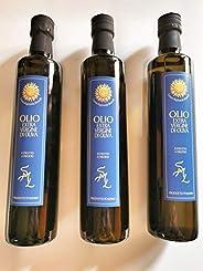 Olio Extra Vergine di Oliva Tenuta Rapisarda Brunelli 3 bottiglie da 0,5 lt cadauna