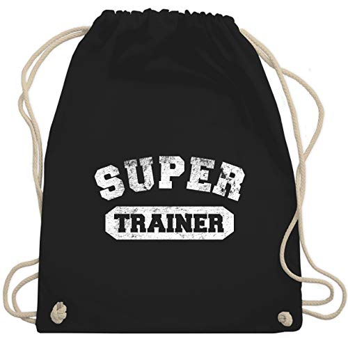 Fußball - Super Trainer Vintage - Unisize - Schwarz - WM110 - Turnbeutel & Gym Bag -