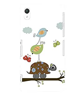 printtech Birds Pattern Back Case Cover for Sony Xperia Z2::Sony Xperia Z2 L50W D6502 D6503