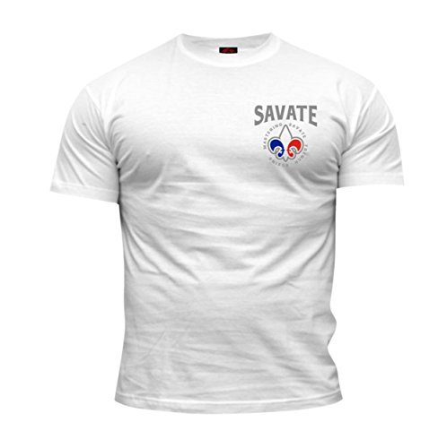 Dirty Ray Arts Martiaux Savate Boxe Francaise t-Shirt Homme DT32