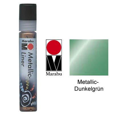 Marabu 768 25 ml Metallic Liner, Dark Green