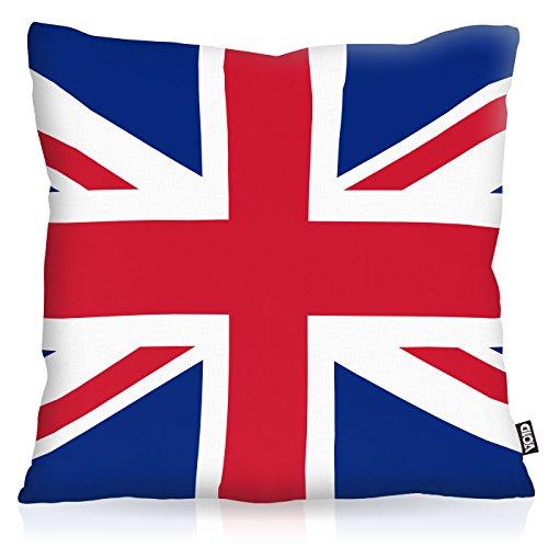 VOID England Great Britain Polyester Kissenbezug Flagge Fahne Fan-Kissen Kissenhülle Outdoor Indoor Bunt, Kissen Größe:40 x 40 cm -