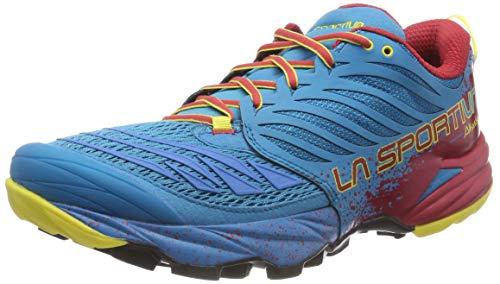 La Sportiva Akasha Tropic, Zapatillas de Trail Running para Hombre, Multicolor Blue/Cardinal Red 000...