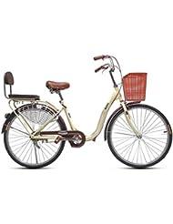 Paseo Bicicleta Plegable Bicicleta Unisex Bicicleta Portátil De Una Sola Velocidad De 24 Pulgadas Bicicleta Portátil