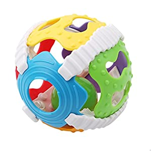 Baby Hand Grab Rattle Ball Infant Teaching aid Rattle Puzzle Fitness Soft Plastic Ball Baby Toy