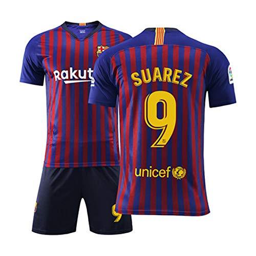 Jugend Fußball Kostüm - FNBA Fútbol Club Barcelona Auswärtsteam Suarez # 9 Kinder Jugend Fußball Jersey und Shorts, Kostüm Sportbekleidung Bekleidung für Männer-1-3XS