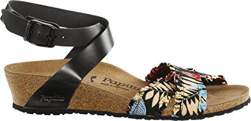 Papillio Sandales pour femme FLOWER FRILL BLACK