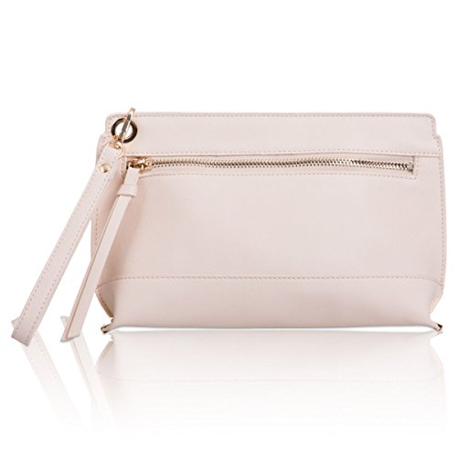 xardi London – Wristlet Donna Partito Frizione Borsa in pelle sintetica Donna Make Up Viaggio Borsa Ivory