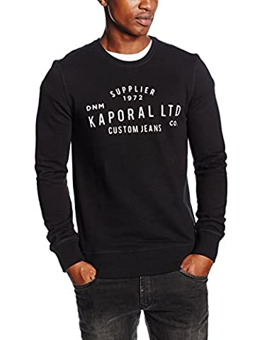 Kaporal Mane, Sweat-Shirt Homme^Homme, Noir (Black), XX-Large (Taille Fabricant: XXL)