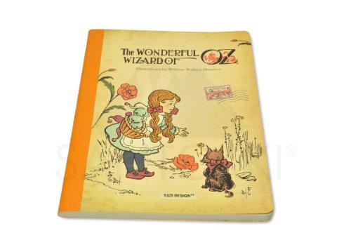 7321Design oz7468–genäht Notebook mit Linien groß, orange (Der Zauberer Von Oz Tin)